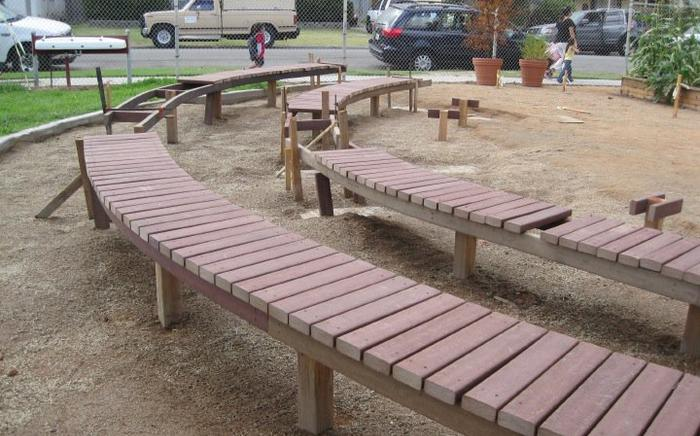 New benches in place