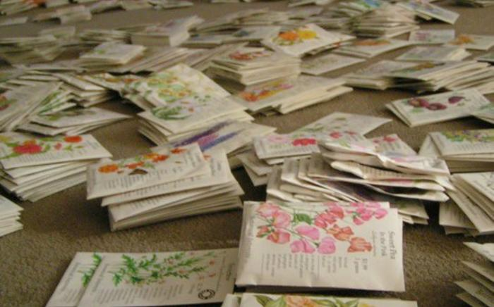 Seed packet donation